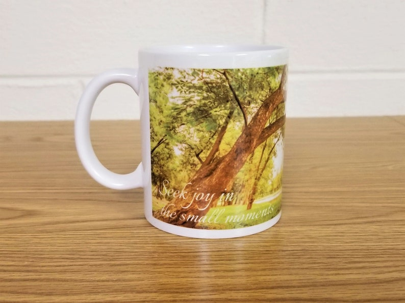 Woodlands Scene Custom Printed Coffee Mug Seek Joy in image 0