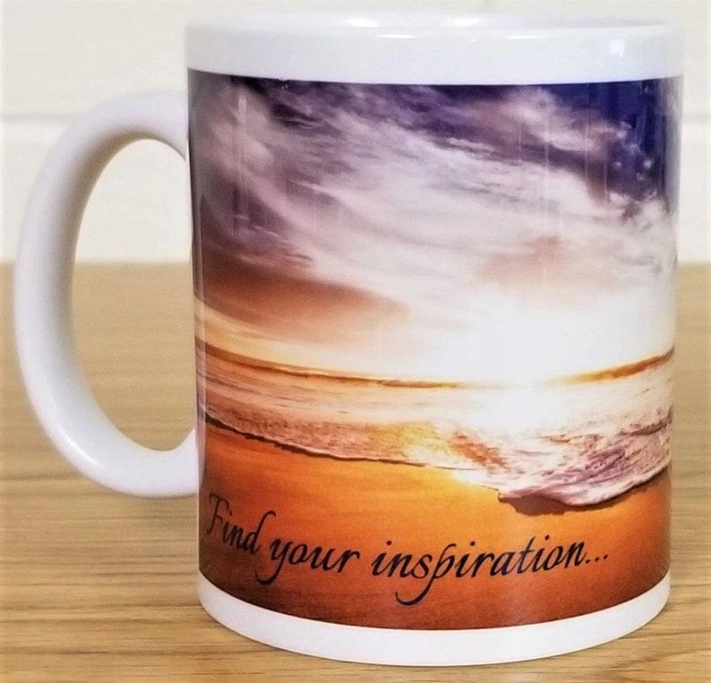 Beach Landscape Custom Printed Ceramic Coffee Mug Find image 0