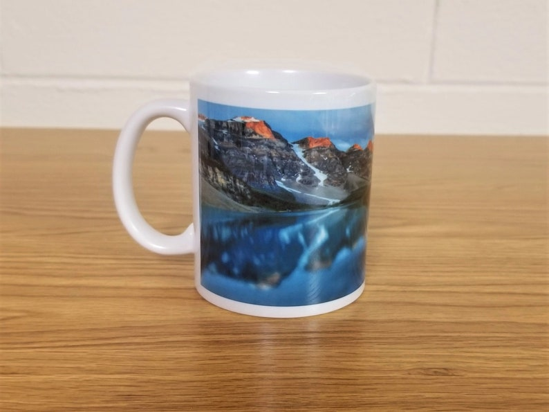 Mountain Lake Custom Printed Ceramic Mug Take Time To image 0