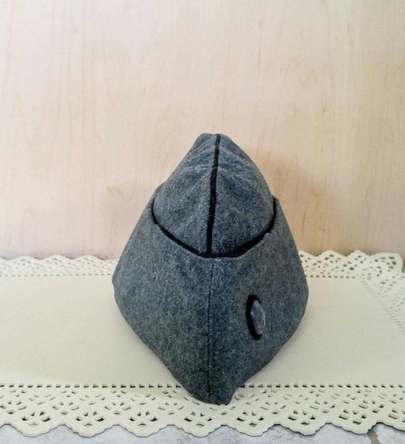 c8fb3a52c35 Vintage Swiss Army Garrison Hat Surplus Army Gray Wool