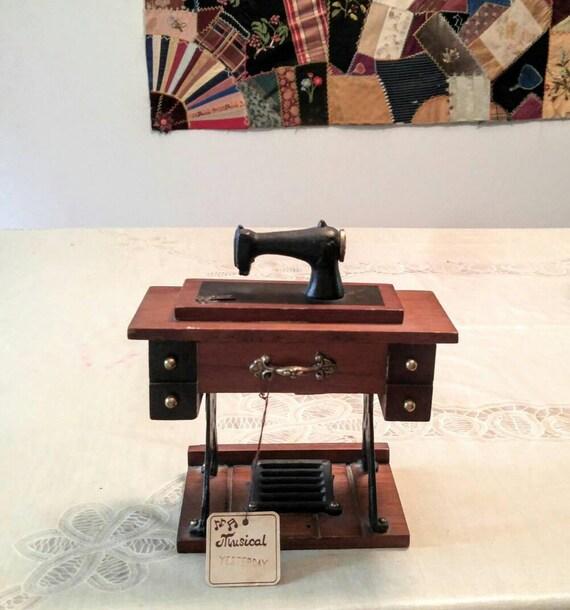 Vintage Sewing Machine Music Box Plays Beatles Yesterday 40 Etsy Mesmerizing Sewing Machine Music Box
