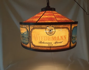 Rotating lamp etsy awesome wiedemann bohemian special beer automated rotating light up bar chandelier bar lamp hanging lamp barware light steamboat light aloadofball Images