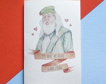 Harry Potter You Make My Heart Dumblesoar Card