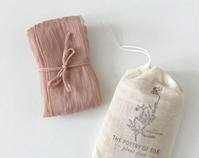 DUSTY ROSE Plant Dyed Silk Ribbon