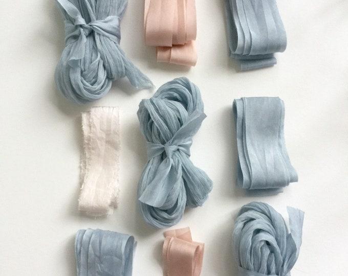 ASSORTED Plant Dyed Silk Ribbon Bundle