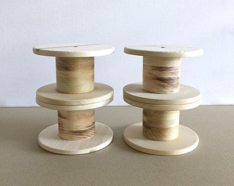 SALE Large Wooden Spools, Set of 4