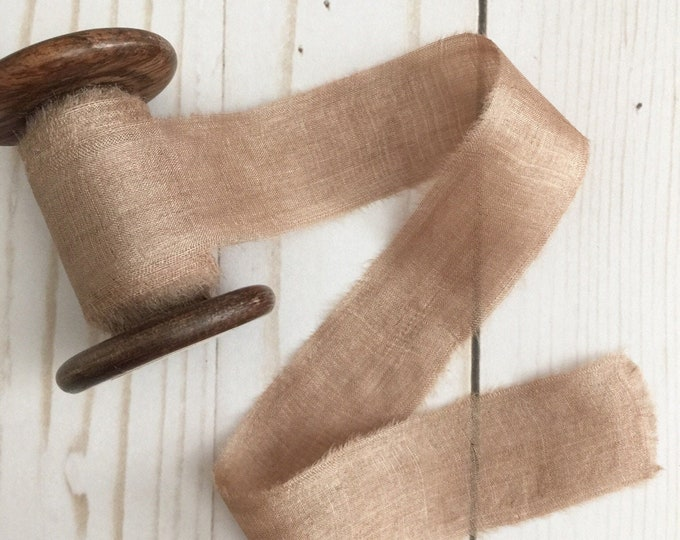 "1"" x 3 yds WALNUT Plant Dyed Silk Ribbon"