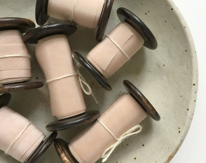 Light Rose Taupe Plant Dyed Silk Ribbon