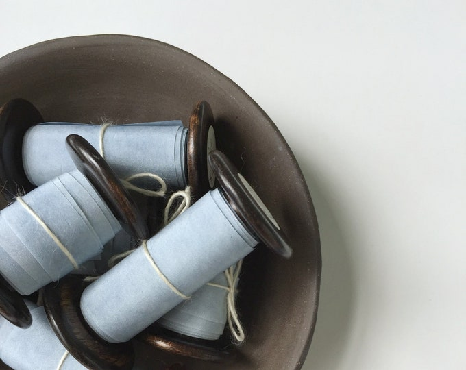 "2.5"" x 2 yds DUSTY BLUE Plant Dyed Silk Ribbon"