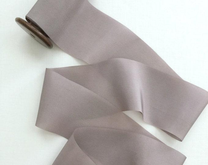Gray Lavender Plant Dyed Silk Ribbon