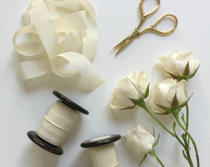 Ivory Plant Dyed Silk Ribbon
