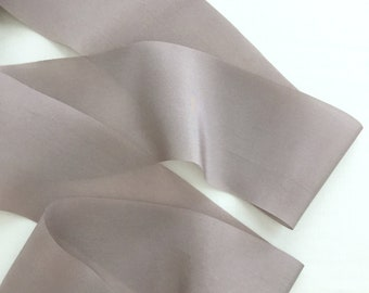 Gray Lavender Plant Dyed Silk Ribbon
