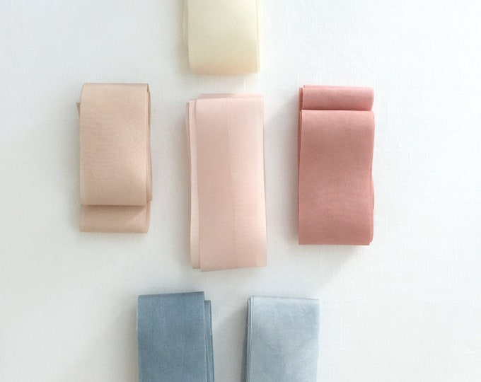 Plant Dyed Silk Ribbons - Styling Kit
