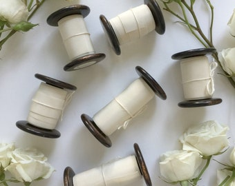 Ivory Plant Dyed Silk Ribbon