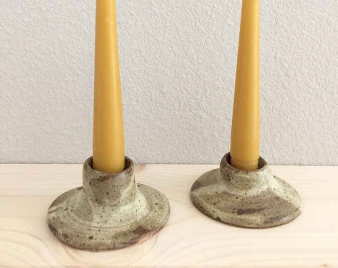 Pair of Handmade Ceramic Candlesticks