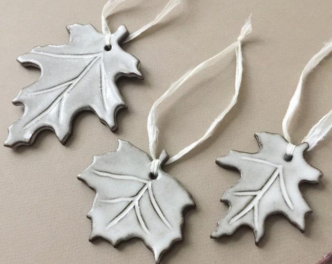 Set of 3 Ceramic Holiday Ornaments