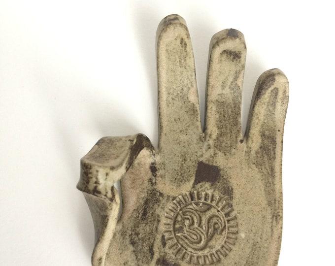 Ceramic Hand Incense Holder