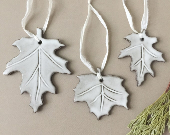 Set of 3 Ceramic Holiday Ornaments
