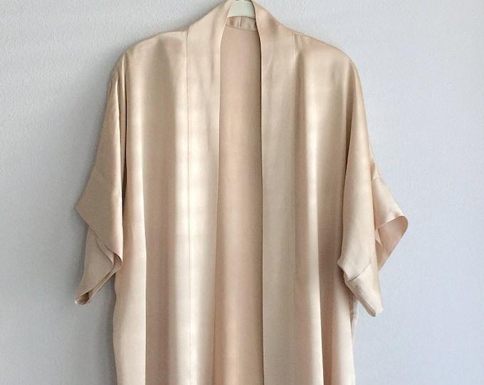 Natural Dyed Silk Kimono Robe
