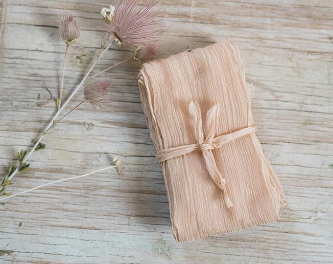 DUSTY PEACH Plant Dyed Silk Ribbon