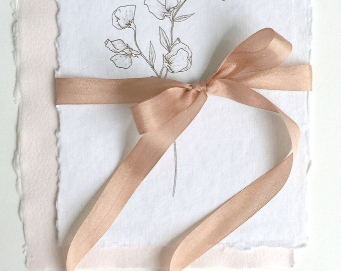 Dusty Rose Plant Dyed Silk Ribbon