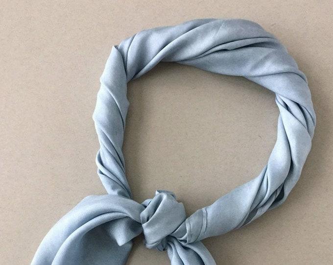 Indigo Blue Plant Dyed Silk Scarf