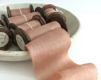 Rose Clay Plant Dyed Silk Ribbon