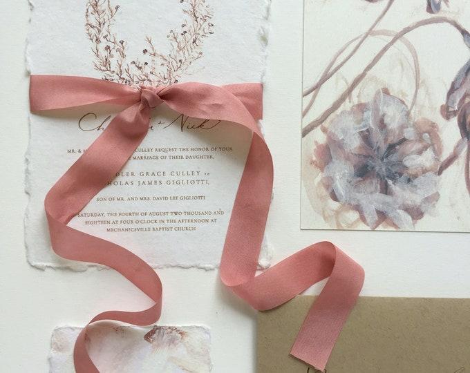 Antique Rose Plant Dyed Silk Ribbon
