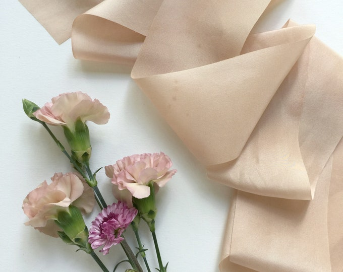 Light Rose Taupe Plant Dyed Silk Ribbon - Styling Kit