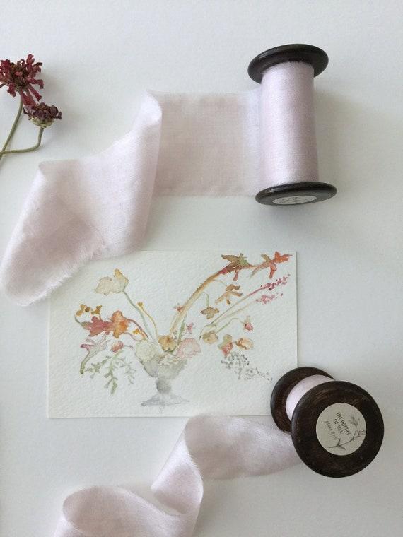 SWEET PEA Plant Dyed Silk Ribbon