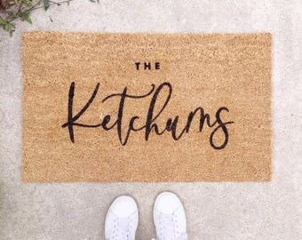 Custom Doormat, Personalized Gift, personalized doormat, Last Name Doormat, Welcome Mat, Custom Wedding Gift, Housewarming Gift