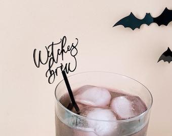Halloween Stirrers, Stir Sticks, Witches Brew Drink Stirrers, Pastel Halloween, Halloween Party Decor, Swizzle Sticks, Halloween Barware