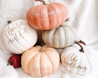 Personalized Pumpkin, Custom Pumpkin, Pink Pumpkin, Pumpkin Decor, Pink Pumpkin Decor, Halloween Decor, Fall decor, Wedding Pumpkins