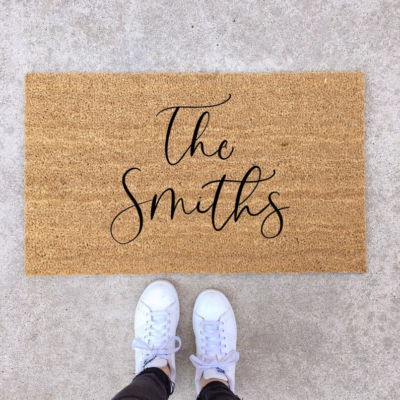 Holiday Gift Guide, last name door mat