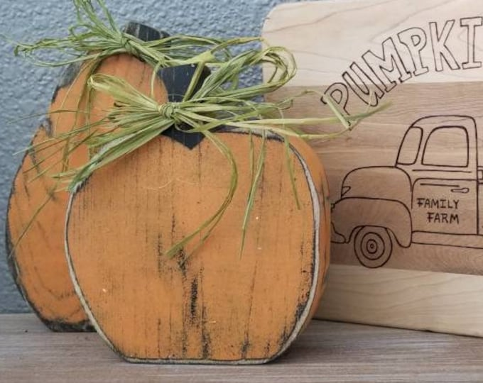 Wood Pumpkins Fall Thanksgiving Halloween Decor Jack-o-lantern Green White Pumpkin Rustic Reversible Wooden Decorations Farm Free Shipping