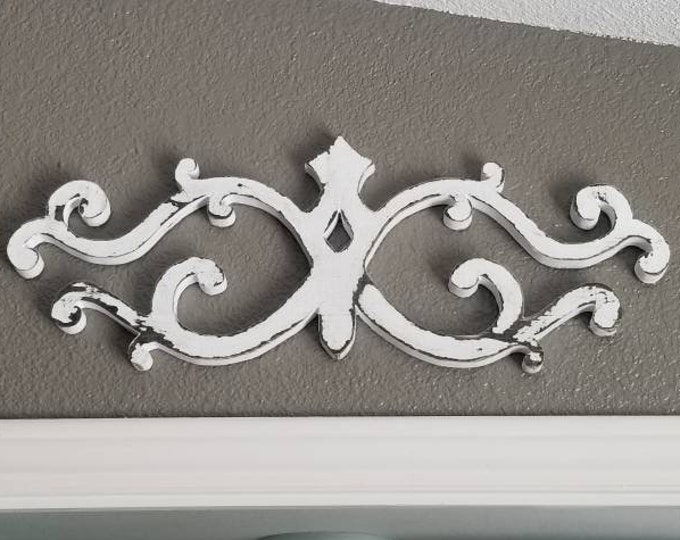 Architectural Wall Hanging, Wooden, Pediment, Salvage, Decorative Wall Piece, Intricate, Detailed, Handcut, Free Shipping, Christmas Gifts