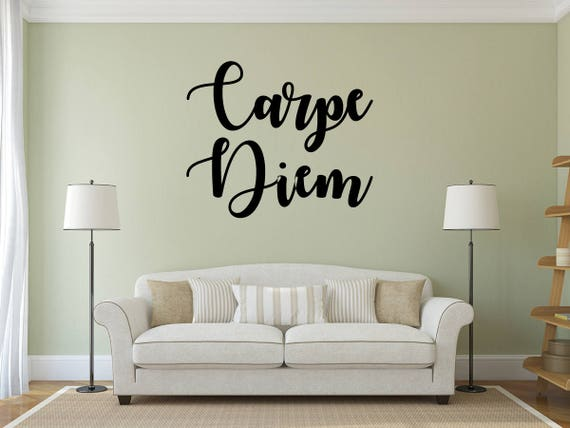 CARPE DIEM DECORATION WALL STICKERS DECAL ART QUOTE