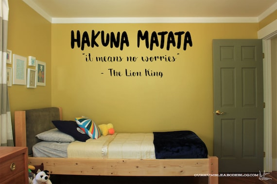 hakuna matata it means no worries vinyl wall decal sticker | etsy