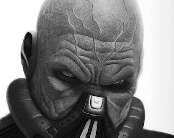 Darth Malgus Fine art Print, STAR WARS ART, Star Wars wall art