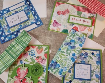 Four Beautiful Handmade Note Cards With Decorative Envelopes Suitable For Any Occasion READY TO SHIP!