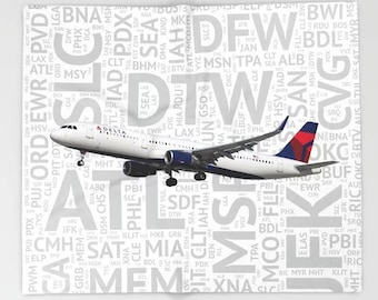 Delta airlines | Etsy