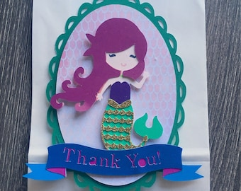 Mermaid party favors - Mermaid party loot bag decoration