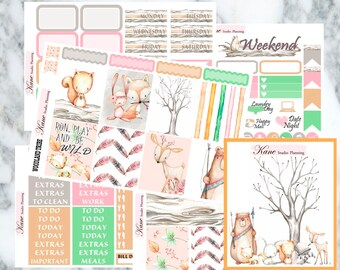 Woodland Tribe // Weekly Kit - Erin Condren Life Planner Vertical 165+ stickers
