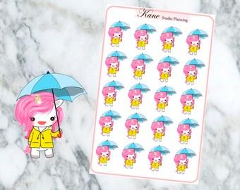 Rainy Unicorn Planner Stickers
