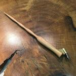 Red Oak Oblique Pen Holder