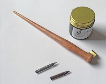 Calligraphy Starter Pack - Pen, Ink, Nibs