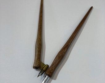 Solid Parota Oblique Pen Holder