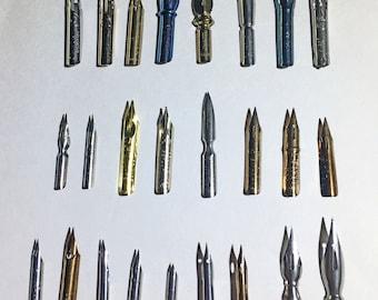 25 Nibs FULL Calligraphy Nib Sampler