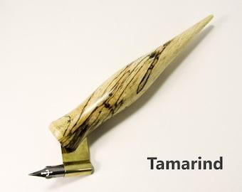 Wide Grip Solid Wood Carrot Pen