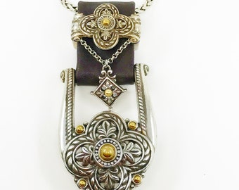 Vintage Jewelry, Brighton Jewelry, Belt Buckle Jewelry, Re-Purposed Jewelry
